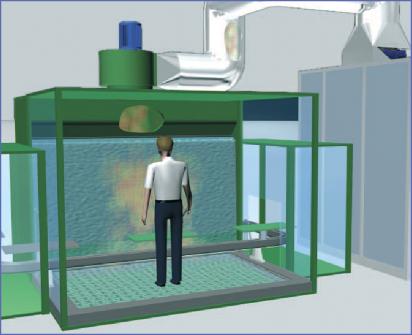 cabina di verniciatura pressurizzata