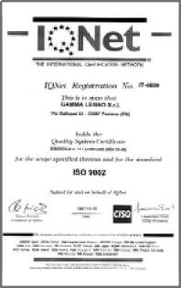 gammalegno certificazione