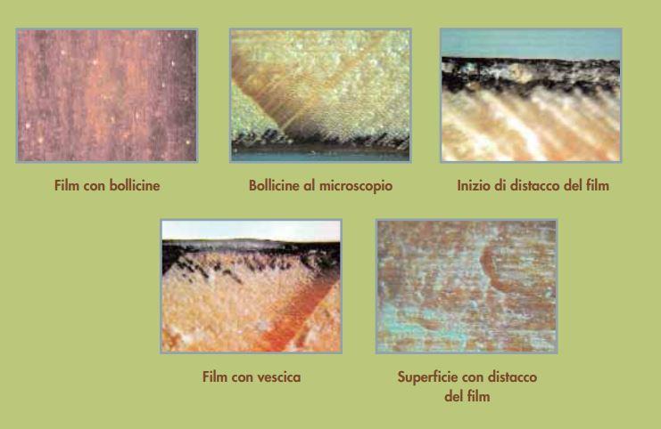 Difetti verniciatura bolle