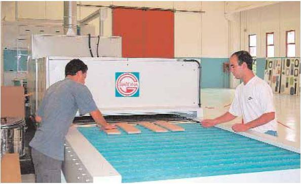 polveri UV per pannelli in MDF