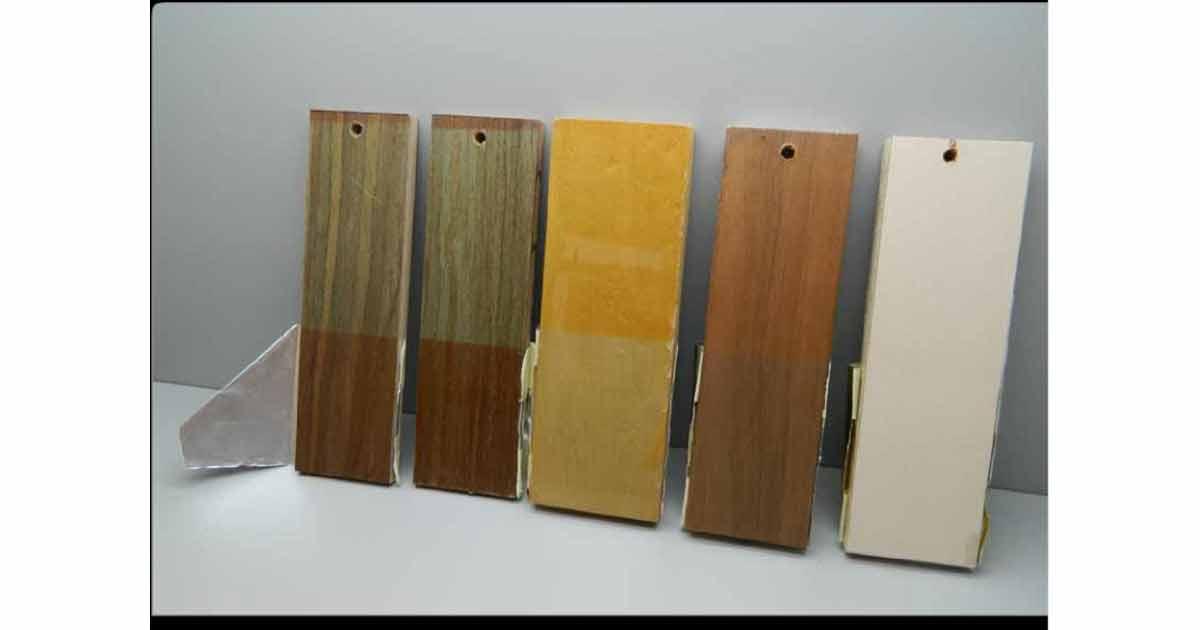 Cambiamento di colore del legno.