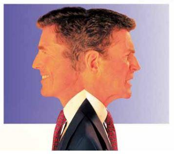 Metafora doppia faccia