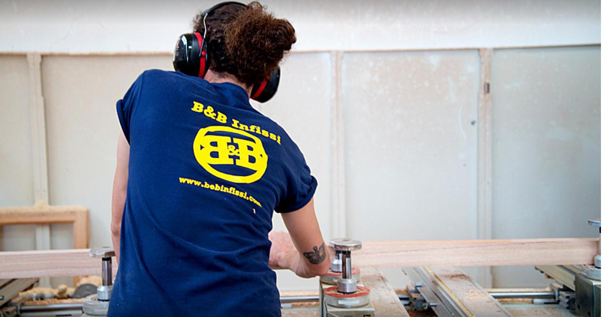 Lavorazione legno B&B infissi Nuova Sivam