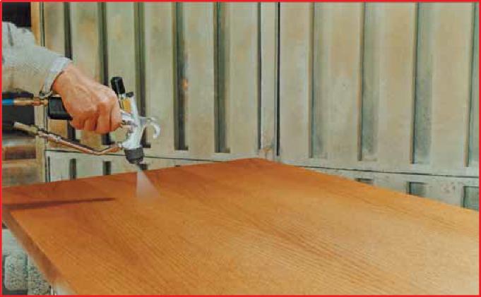verniciatura manuale tavolo a spruzzo